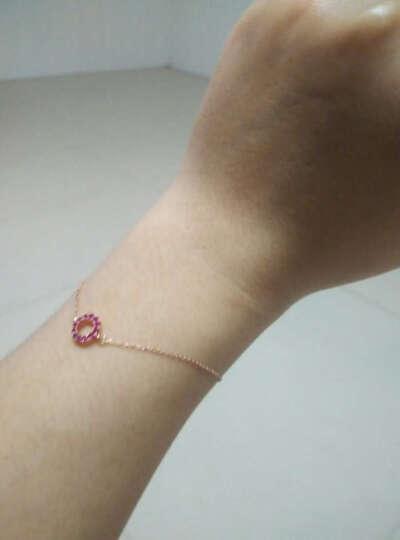 米莱 珠宝 0.25克拉红宝石手链18k金(玫瑰)镶嵌钻石彩色宝石定制 红宝石手链 现货 15个工作日定制 晒单图