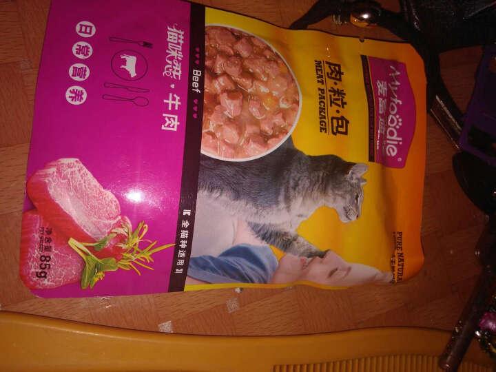 猫零食 猫湿粮牛肉.海洋鱼.金枪鱼妙鲜肉包幼猫成猫粮85g猫罐头宠物零食单包出售 金枪鱼 晒单图
