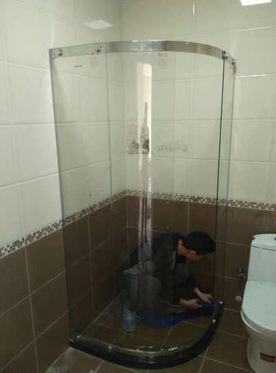 迪玛 淋浴房弧扇型304不锈钢钢化玻璃整体淋浴房间隔断浴室 304不锈钢/8mm/升级金钢膜/石基/平方价 3C认证钢化玻璃 晒单图