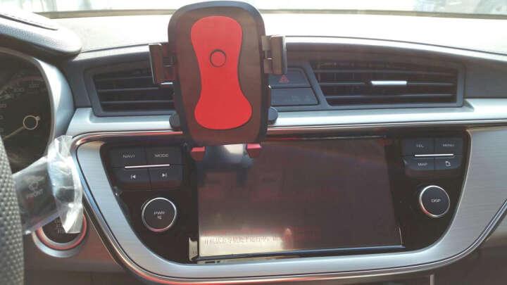 YOMO 多功能手机支架夹式适用于车载/书桌/导航视频支架 适用于苹果iphone7/plus/三星华为小米安卓手机 红色 晒单图