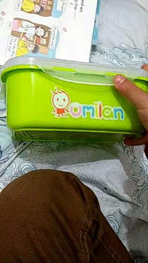 omilan 欧米兰学生饭盒 304不锈钢儿童便当盒方形餐盒密封防漏保鲜盒 900ML大号橙色 晒单图