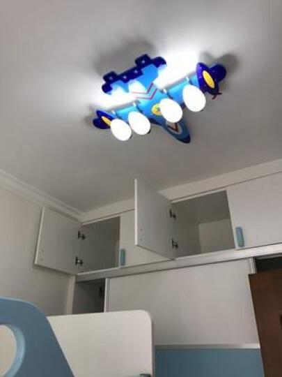 优之灯 led儿童房灯吸顶灯具 温馨餐厅卧室灯男孩女孩遥控护眼创意飞机个性灯饰现代简约卧室灯 注意 飞机灯适用灯泡16W暖光灯泡 晒单图