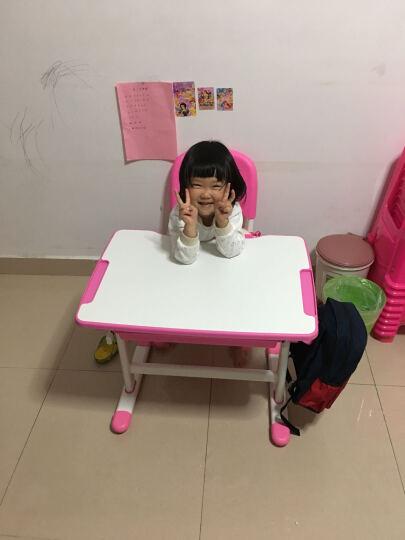 童星 儿童学习桌椅套装 可升降小学生书桌小孩写字桌家用桌子 课桌椅套装组合套餐多功能 B201木纹灰色旗舰版 晒单图