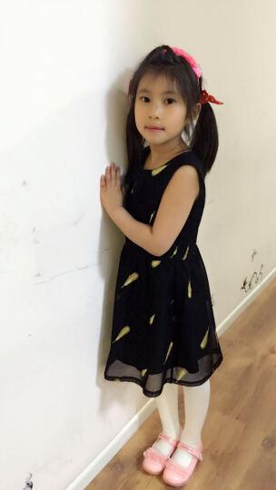 琦阿罗 亲子装春夏装2017新款母女装连衣裙女童短袖亲子外出休闲套装夏季 黑色外套+白色连衣裙 女装M 晒单图