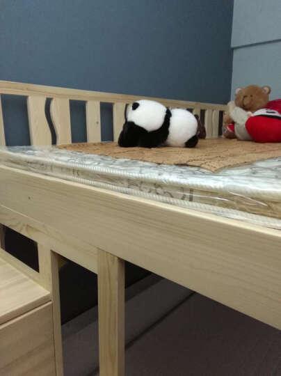 松邦 多功能组合儿童床 高铺上下铺双层高低床 带衣柜书桌上下床子母床 梯柜床+写字台+小衣柜 1200*1900 晒单图