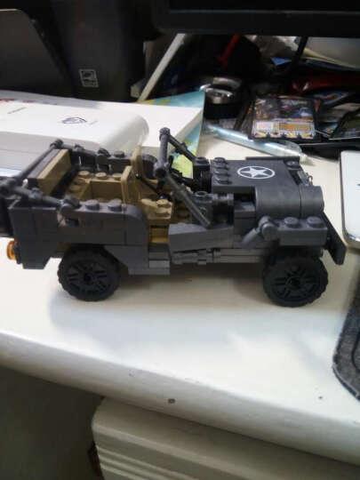 拼装儿童积木玩具军事工程坦克汽车飞机diy益智拼插模型男孩子生日礼物6-7-8-9岁新年礼物 二战经典军车 晒单图