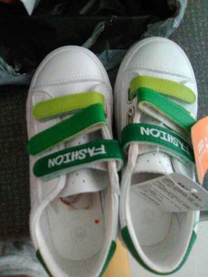 蜡笔小新 儿童运动鞋2017夏季新款男童女童凉鞋 沙滩洞洞板鞋 白绿 27 晒单图