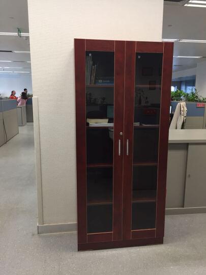 雅霏 组合书柜书橱板式层架柜子储物柜带门白色书架办公书柜 80宽C款  80宽双柜门 B款80厘米宽全玻璃 晒单图