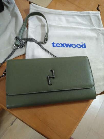 texwood萍果牌女包斜挎包女士真皮休闲新款链条包晚装包单肩包 绿色 晒单图
