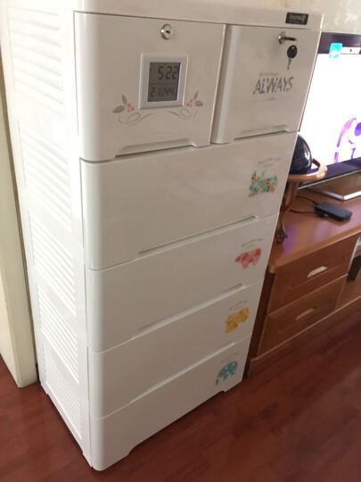 也雅 智感收纳柜宝宝衣柜抽屉式加厚储物柜五斗柜 晒单图