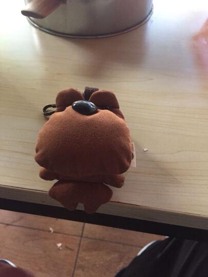 三色补丁囧囧熊钥匙扣 原创设计时尚钥匙挂件韩国可爱男女汽车钥匙扣挂件U盘扣多挂扣小包钥匙链 囧囧熊钥匙扣-棕色 晒单图