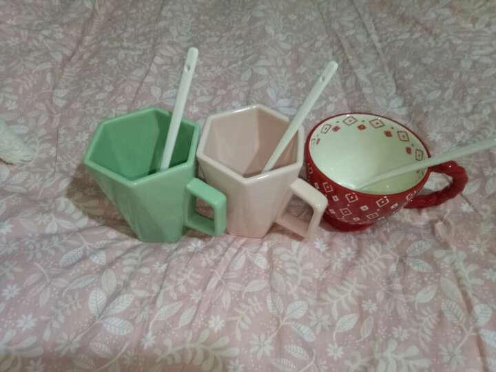 JOYYE 马克杯 咖啡杯子情侣陶瓷杯懒人大容量牛饮水杯茶杯经典粗麻花复古创意牛奶杯 单品花样年华C把杯-灰1 晒单图