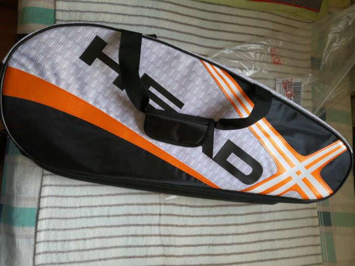 HEAD海德 网球包六支/6支装双肩背包羽毛球包0225 白橙 晒单图