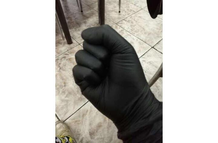 爱马斯(AMMEX) 一次性黑色丁腈手套加厚耐用型耐油耐化学品实验室100只GPNBC 大号L 晒单图