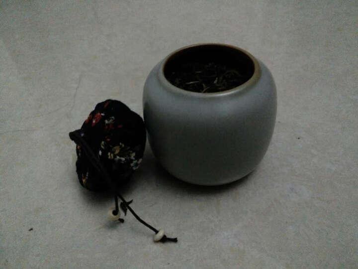 fw 粗陶迷你高档茶叶罐 密封小号铁观音普洱茶缸便携储茶罐香粉罐 糖果罐 茶具配件摆件 软木塞青瓷釉 晒单图