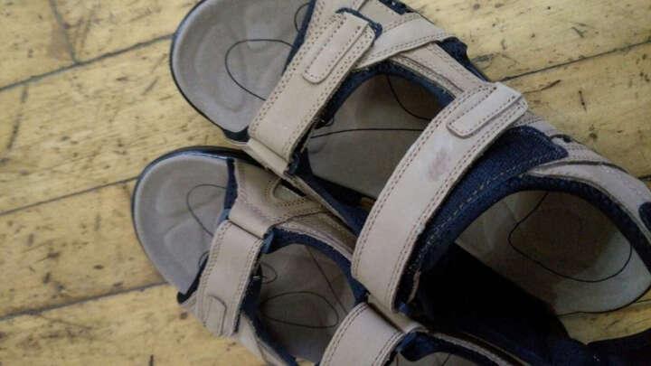 路林客BL沙滩鞋凉鞋男头层牛皮透气包头凉鞋男士休闲沙滩男鞋镂空鞋洞洞鞋休闲男鞋子 0568暗棕色 46 晒单图