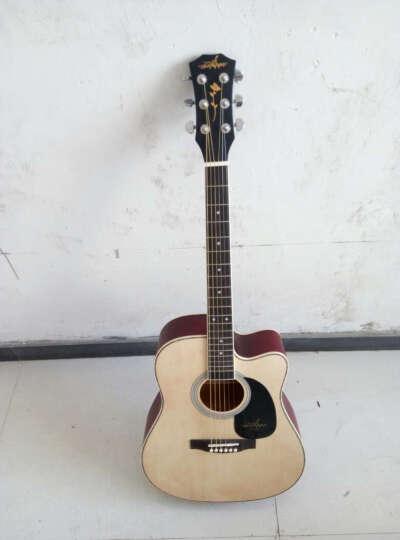 海之韵 吉它民谣吉他成人儿童木吉他电箱吉他练习电吉他初学者新手吉它41寸手工jita乐器1 =缺角吉他+全套赠品 晒单图