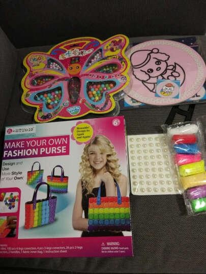 儿童DIY玩具女孩手工制作益智玩具手提包彩虹包套装组合拼插模型玩具 花瓶 晒单图