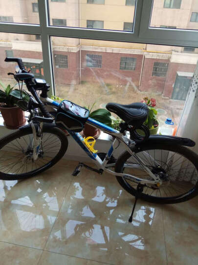NE&CE BSK单车前横梁包上管包触屏手机包自行车骑行山地车马鞍包配件包 BSOUL绿(5.7寸) 晒单图