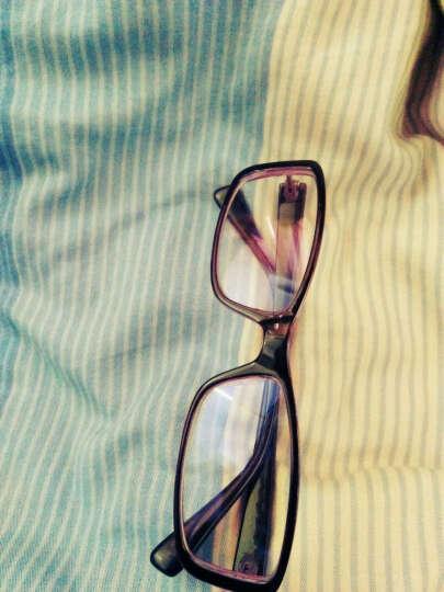 聚高电脑手机电视镜潮男女款平面镜平光防蓝光电竞游戏护目镜 透明红 晒单图