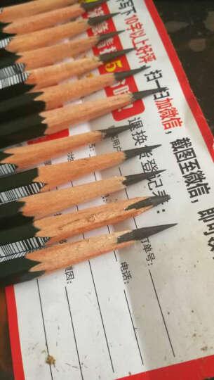 日本Uni三菱铅笔9800小学生儿童绘图绘画素描三角六角考试美术木头铅笔 无铅毒多灰度 2B 12支装 晒单图