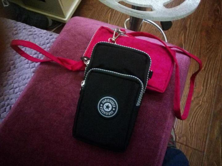 baellerry 新款手机女斜挎包大屏手机袋零钱包挂脖手腕包跑步竖款迷你小包 深红色 晒单图