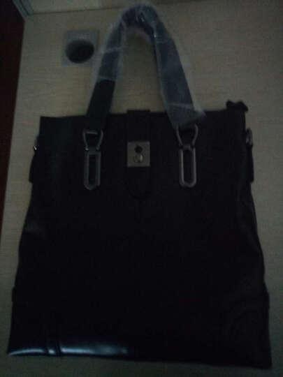 OLDN 欧朗迪诺公文包 男士商务牛皮休闲手提包时尚韩式潮流单肩斜挎包文件袋IPAD包 魅力黑色 晒单图