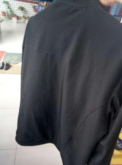 奇尔行 夹克男装秋款 2018春秋冬季修身男士休闲外套 男装上衣服 黑色加绒 XXXL 晒单图
