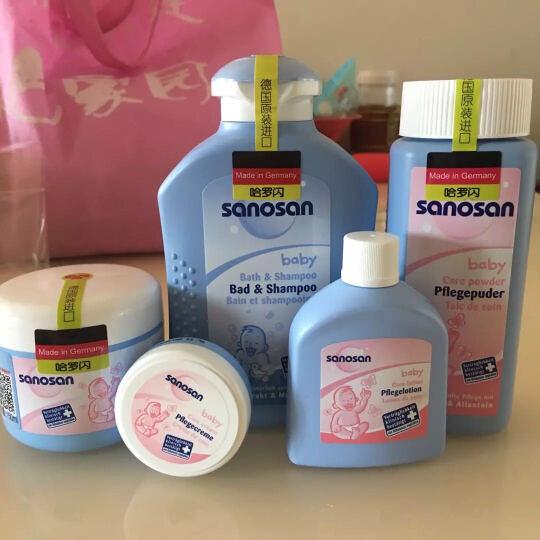 哈罗闪(sanosan)婴幼儿甄选经典套装 婴儿洗护 儿童沐浴露 护肤霜护肤乳 晒单图