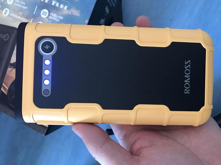罗马仕(ROMOSS)JS12黄色 12000毫安汽车应急启动电源 12V车载备用移动电瓶 充电宝带LED灯 晒单图