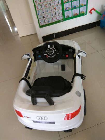 儿童电动车四轮可坐人小孩玩具车儿童汽车带摇摆宝宝童车 升级红色双驱+蓝牙遥控+摇摇车+音乐早教+皮座套 晒单图