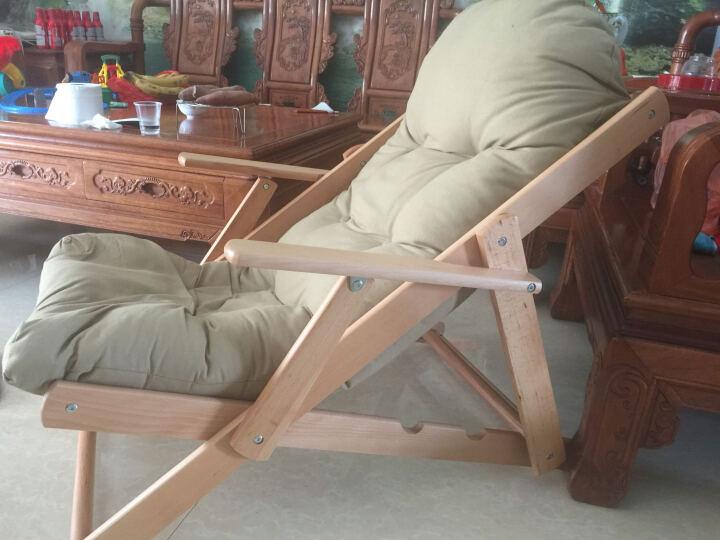 创运北欧休闲椅现代简约沙发椅靠背成人椅客厅加厚布艺折叠椅阳台椅帆布懒人椅舒服躺椅实木椅子舒适午睡椅子 纯洁白 晒单图