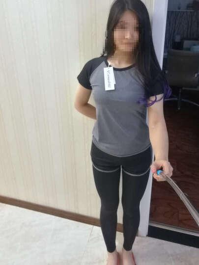 范迪慕(FANDIMU) 瑜伽服套装健身服运动服女修身显瘦瑜珈速干衣五件套装 W2018-紫色-外套五件套 L 晒单图