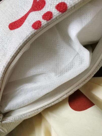 艾薇 家居风格抱枕沙发靠枕含芯 家纺床品厚磅棉麻原创个性  爱的承诺46*46CM 晒单图