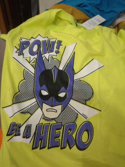 bossini kids 堡狮龙新款男童蝙蝠侠卡通印花个性纯棉短袖T恤 830872000 572 中绿松石色 140码 140/72 晒单图