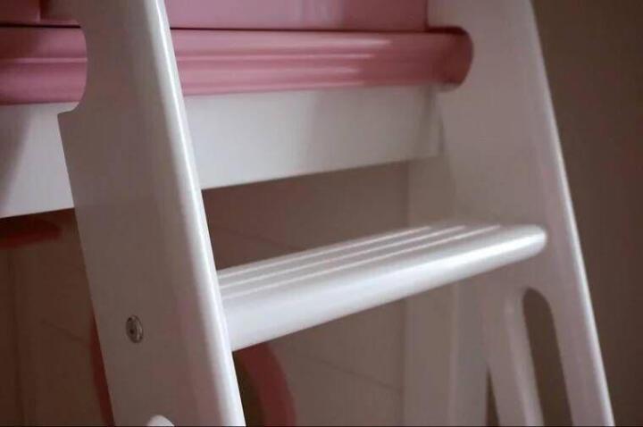 邦利达居 儿童床实木高低床上下床卧室家具地中海子母床公主女孩双层床 爬梯(送书架) 1200*1900 晒单图