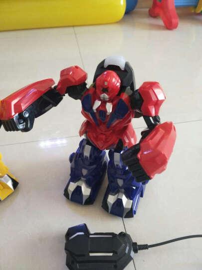 体感遥控对战机器人铁甲钢拳大号充电对打格斗亲子互动智能玩具 铁甲钢拳对战精装版(随机颜色2只) 晒单图