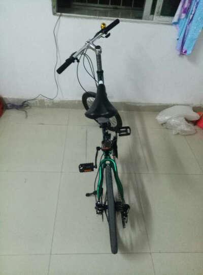 T7山地车自行车21速20寸禧玛诺变速通勤单车学生成人男女士儿童学生时尚轻便复古小轮自行车 橙色 晒单图