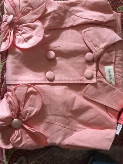 童装儿童外套2018新款潮女童女大童韩版休闲上衣儿童装春装中大童纯色风衣外套 粉红色 150 晒单图