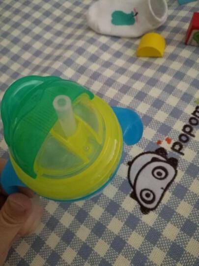 摩尔西夫吸管杯宝宝双层隔热学饮杯防烫水杯婴幼儿童带手柄防漏水杯 小兔黄色 晒单图