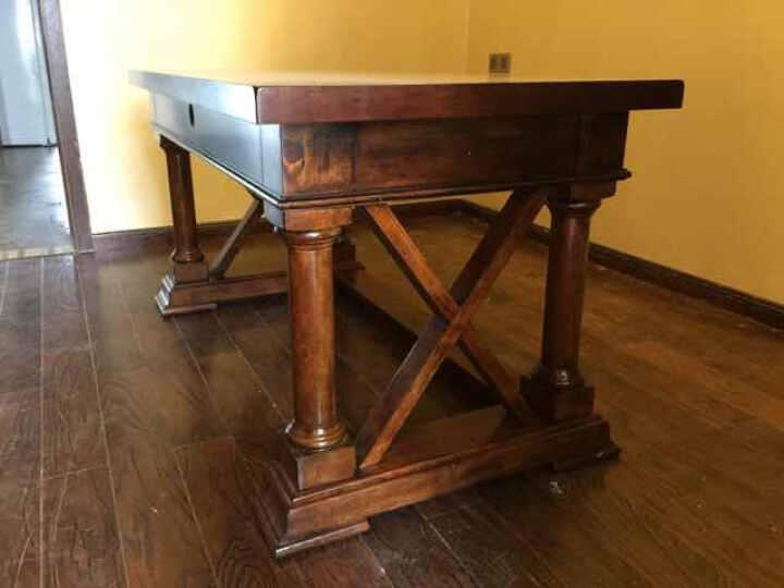 Markbest 品之印 美式写字桌实木书桌落地电脑桌办公桌乡村书桌 晒单图