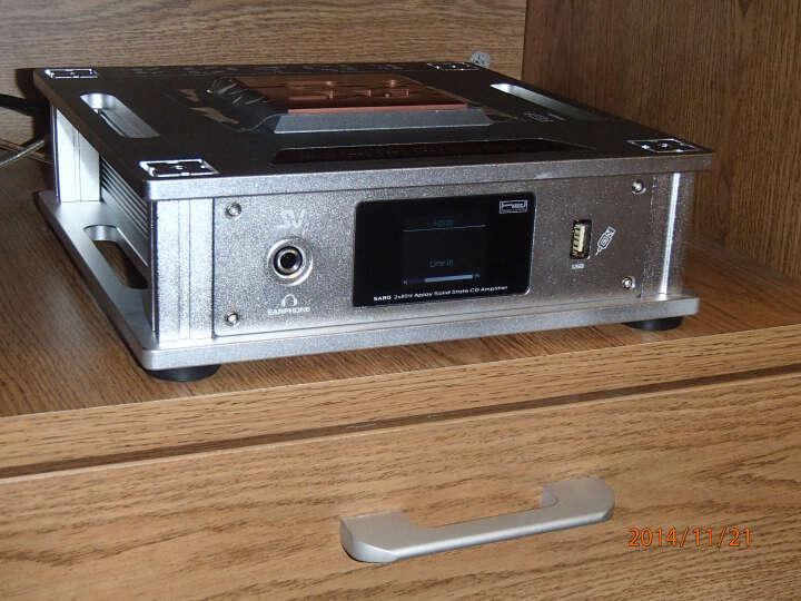 索威(SV)SA80 功放 专业功放机 家用音响  迷你功放器  USB固态CD(银色) 晒单图
