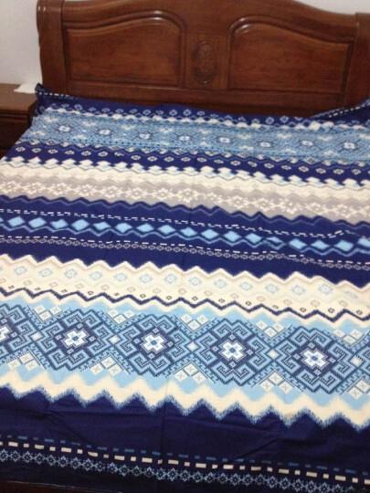 洁梦莱家纺床上用品四件套全棉斜纹印花单双人纯棉套件 旅行的意义 1.5米床/1.8米床被套200x230cm 晒单图