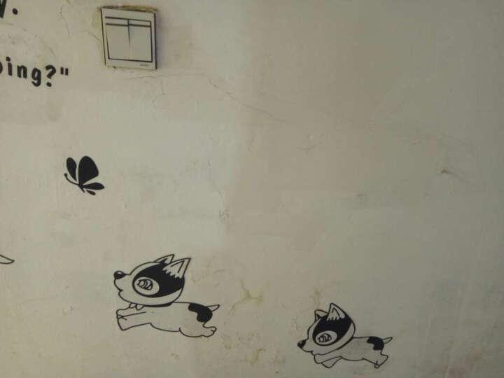 缔卡(dktie) 新欢乐狗可移除PVC走廊楼梯装饰创意踢脚线墙贴花贴纸贴画地脚线 欢乐狗 大 晒单图