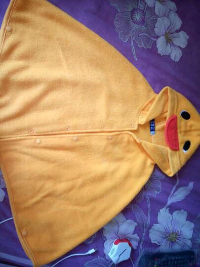 嘉乐宝杰斯卡春款韩版草莓 小鸭造型披风 宝宝披风 儿童披风披肩 儿童斗篷 黄色薄款 均码0-2岁 晒单图