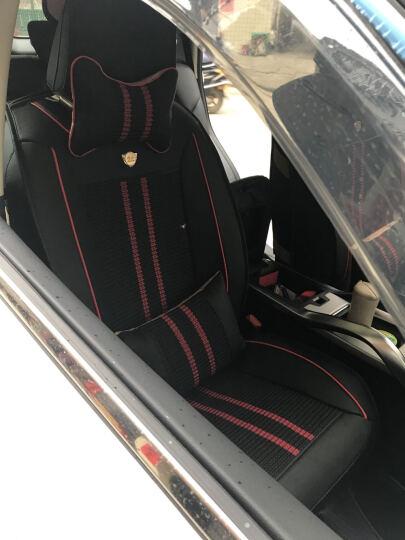 马先生汽车坐垫朗逸迈腾速腾博瑞帝豪gs博越途观凌渡卡罗拉福克斯英朗阿特兹四季通用汽车座垫套 L911黑白 起亚kx3/kx5/智跑/赛拉图/哈弗H6/H2 晒单图