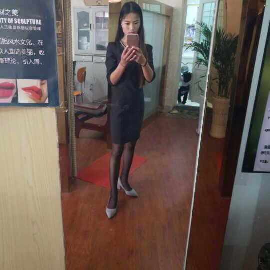 享利运 高跟鞋2017新款四季女鞋子黑色高跟鞋尖头细跟浅口职业工作鞋女单鞋韩版 灰 色 38 晒单图