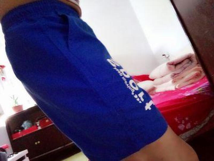 芭百度休闲短裤男2019夏季上新男士时尚中裤五分裤薄款速干运动沙滩裤男 蓝色 XL 晒单图