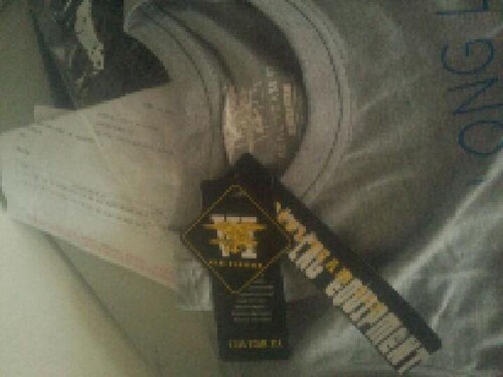 SEAL TEAM SIX 海豹六队战术男士圆领短袖T恤 骨蛙户外纯棉印花体恤 白色 XXXL 晒单图