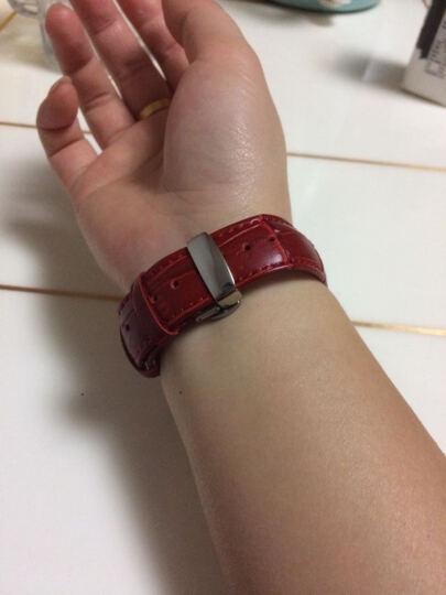 洽利(QIALI)进口真皮智能手表iwatch2/3/4表带 适用于Apple watch/苹果手表 38mm玫瑰红 带不锈钢连接器+蝴蝶扣 晒单图